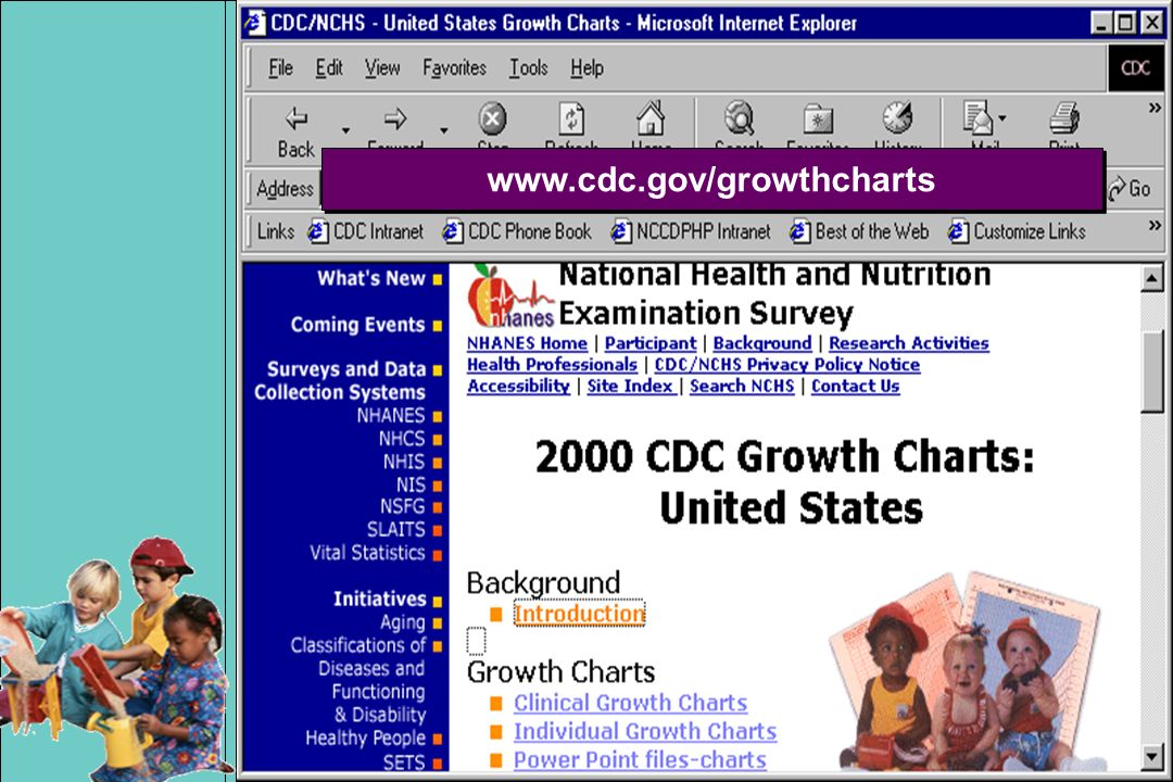www.cdc.gov/growthcharts Here is the CDC Web site.