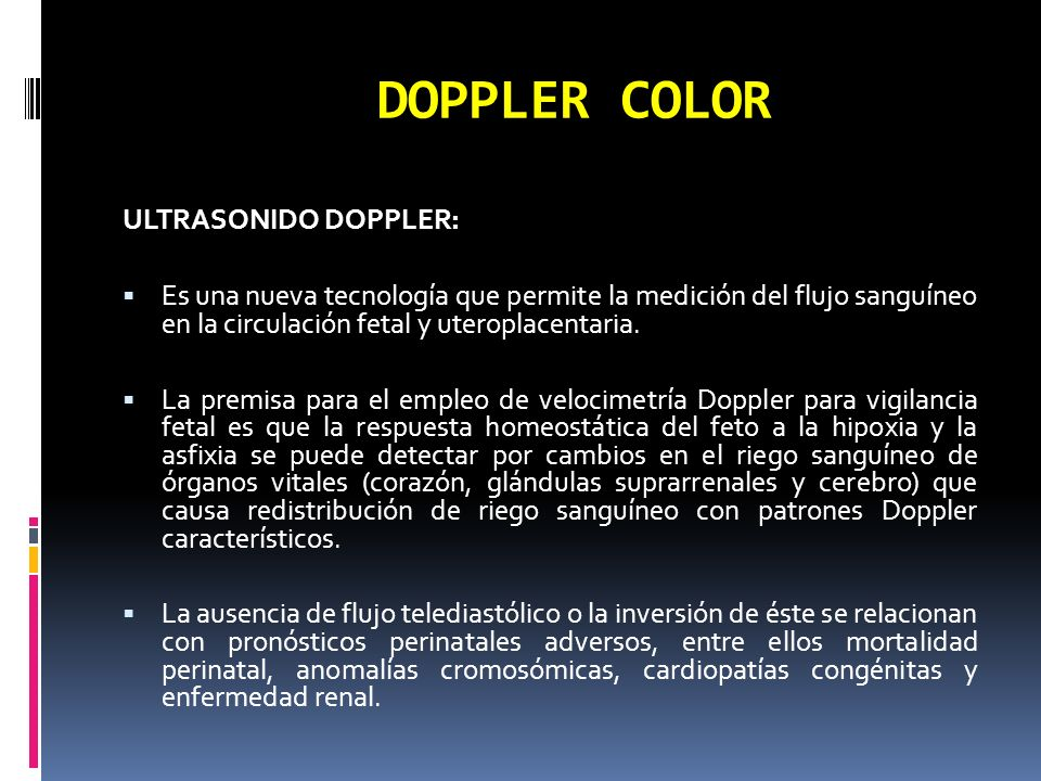 DOPPLER COLOR ULTRASONIDO DOPPLER: