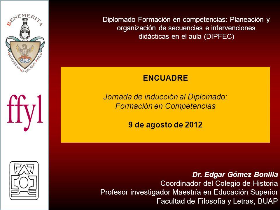 Jornada de inducción al Diplomado: Formación en Competencias