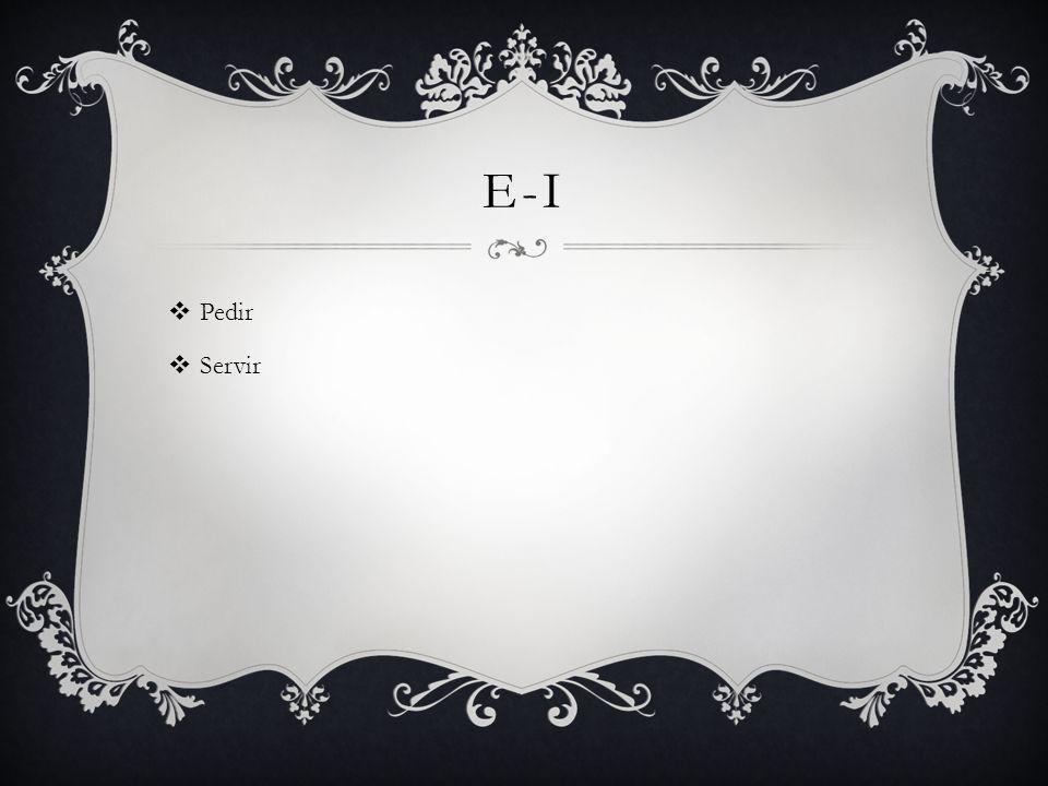 E-I Pedir Servir