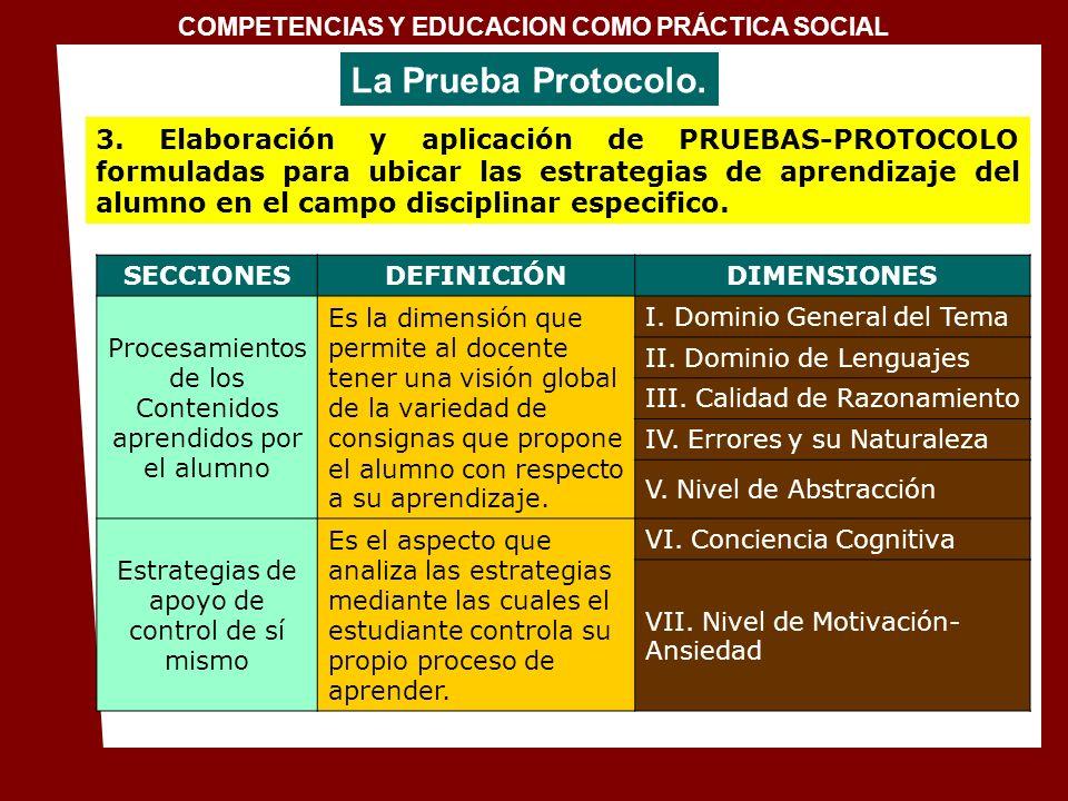 COMPETENCIAS Y EDUCACION COMO PRÁCTICA SOCIAL