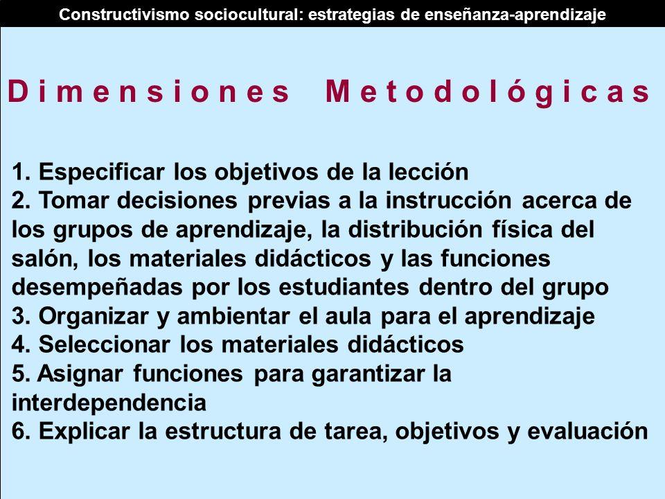 Constructivismo sociocultural: estrategias de enseñanza-aprendizaje