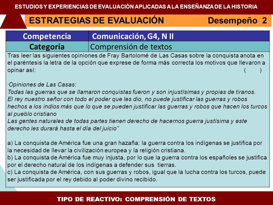 TIPO DE REACTIVO: COMPRENSIÓN DE TEXTOS