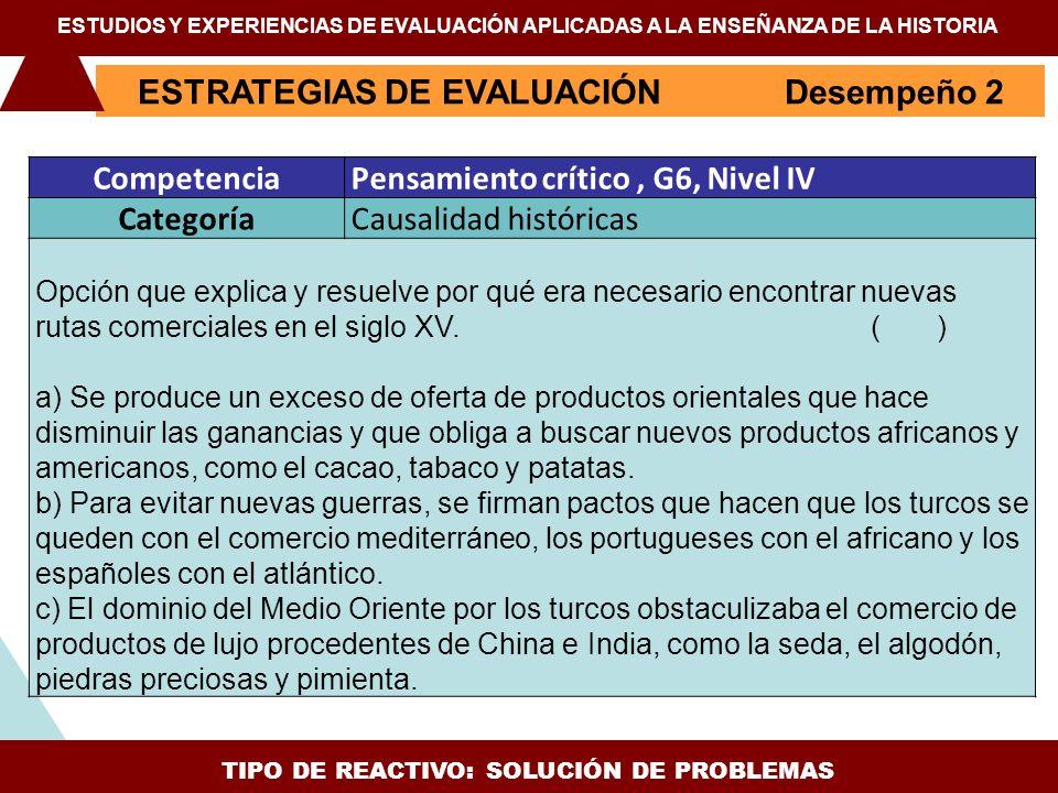 TIPO DE REACTIVO: SOLUCIÓN DE PROBLEMAS