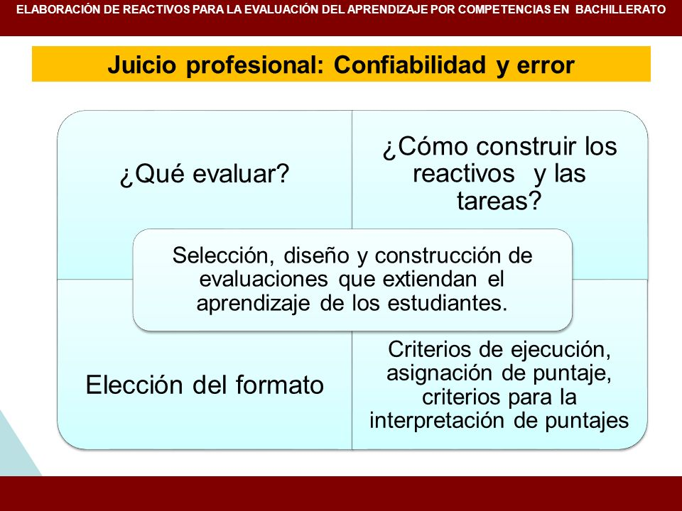 Juicio profesional: Confiabilidad y error