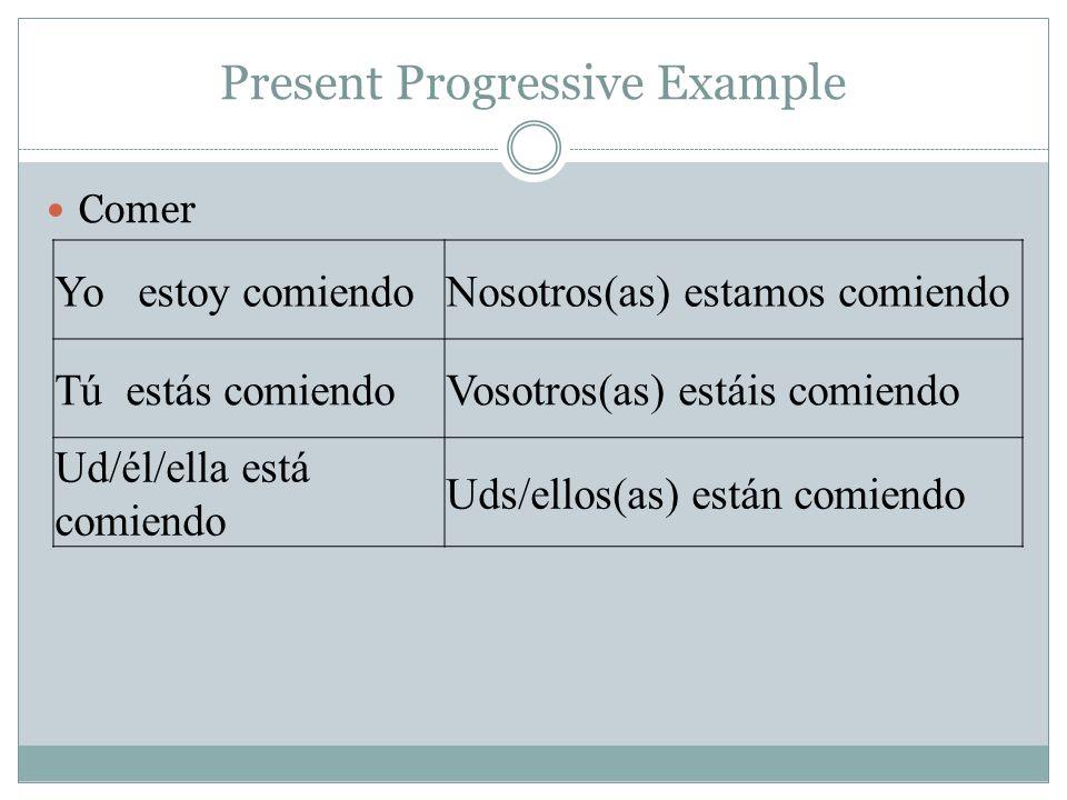Present Progressive Example