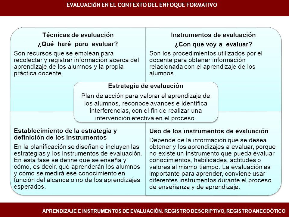EVALUACIÓN EN EL CONTEXTO DEL ENFOQUE FORMATIVO