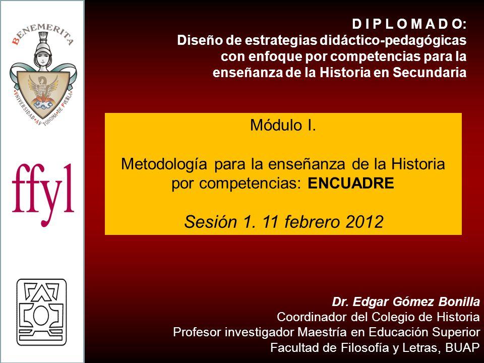 D I P L O M A D O: Diseño de estrategias didáctico-pedagógicas con enfoque por competencias para la enseñanza de la Historia en Secundaria.