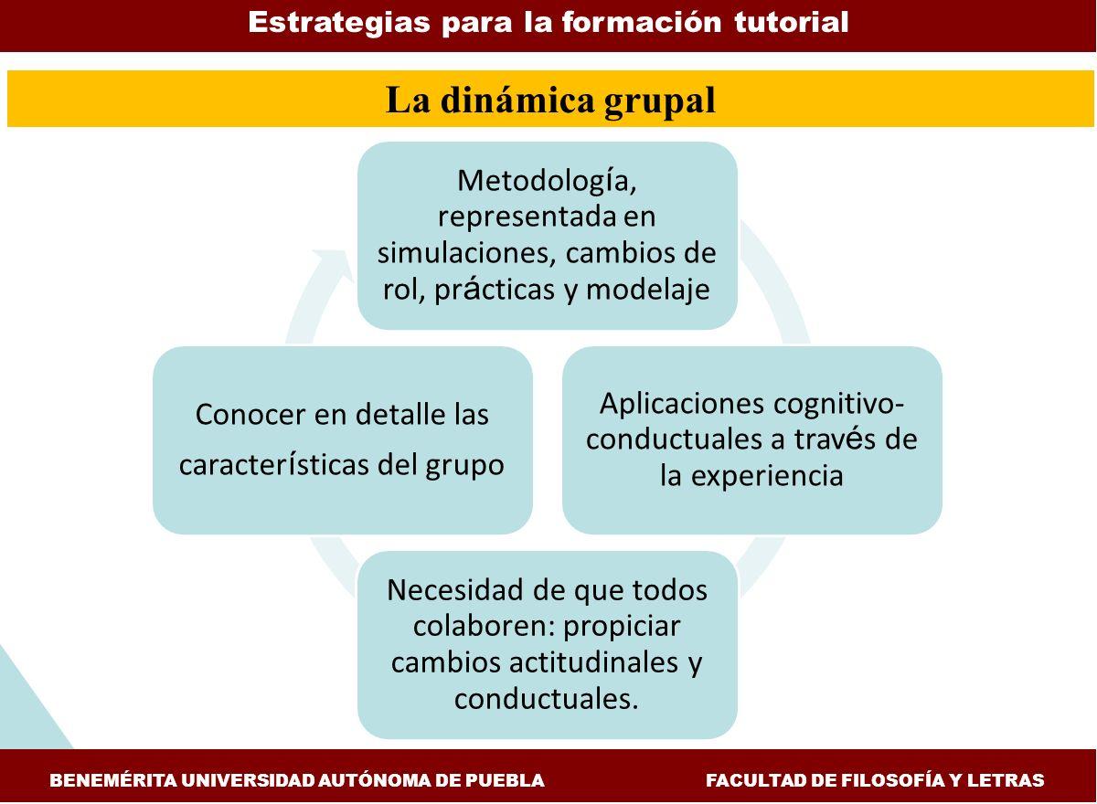 La dinámica grupal Estrategias para la formación tutorial