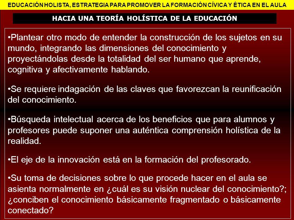 HACIA UNA TEORÍA HOLÍSTICA DE LA EDUCACIÓN
