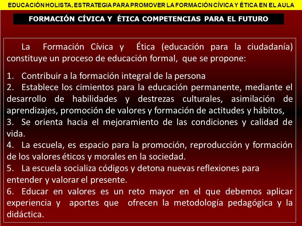 FORMACIÓN CÍVICA Y ÉTICA COMPETENCIAS PARA EL FUTURO
