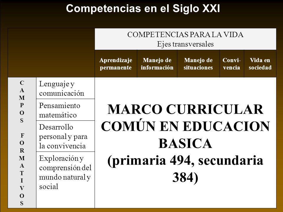 MARCO CURRICULAR COMÚN EN EDUCACION BASICA