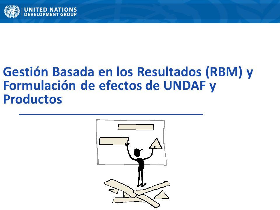 Gestión Basada en los Resultados (RBM) y