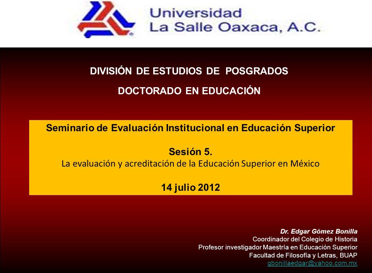 DIVISIÓN DE ESTUDIOS DE POSGRADOS DOCTORADO EN EDUCACIÓN