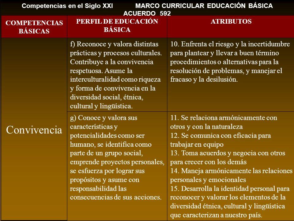 Competencias en el Siglo XXI MARCO CURRICULAR EDUCACIÓN BÁSICA