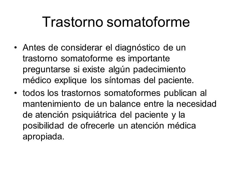 Trastorno somatoforme