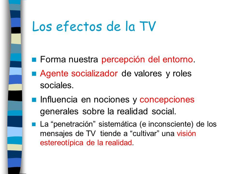 Los efectos de la TV Forma nuestra percepción del entorno.