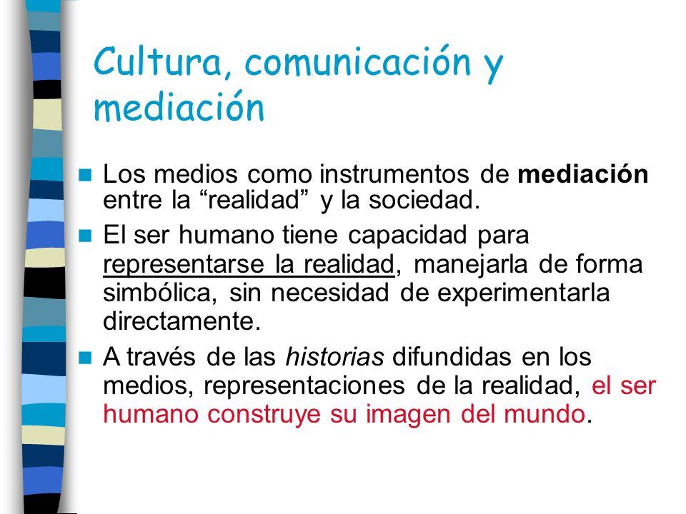 Cultura, comunicación y mediación