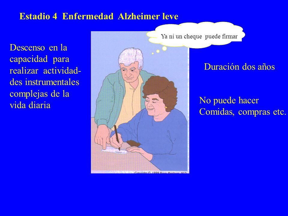 Estadio 4 Enfermedad Alzheimer leve