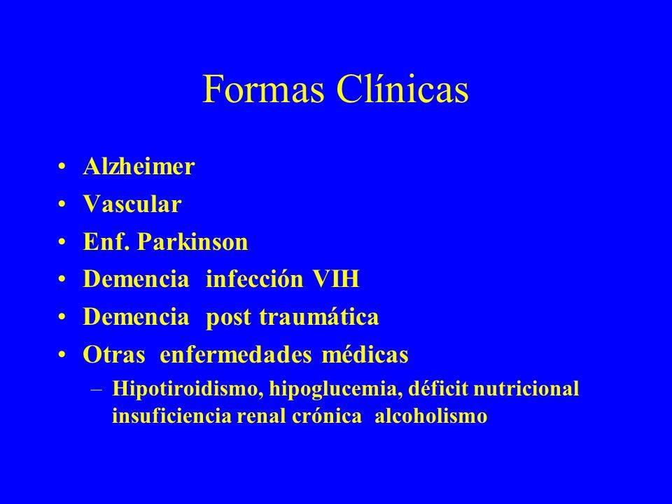 Formas Clínicas Alzheimer Vascular Enf. Parkinson