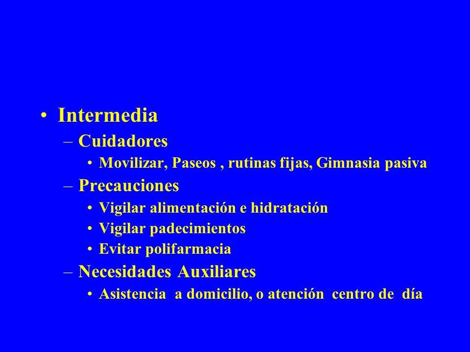 Intermedia Cuidadores Precauciones Necesidades Auxiliares