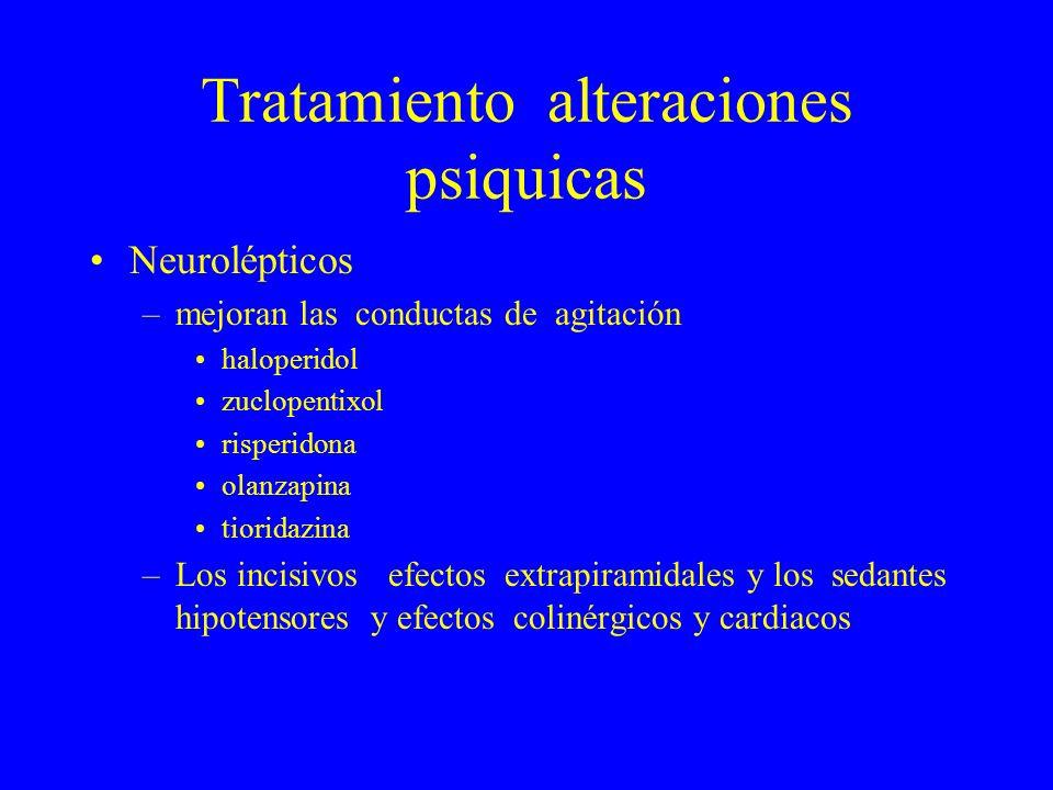 Tratamiento alteraciones psiquicas
