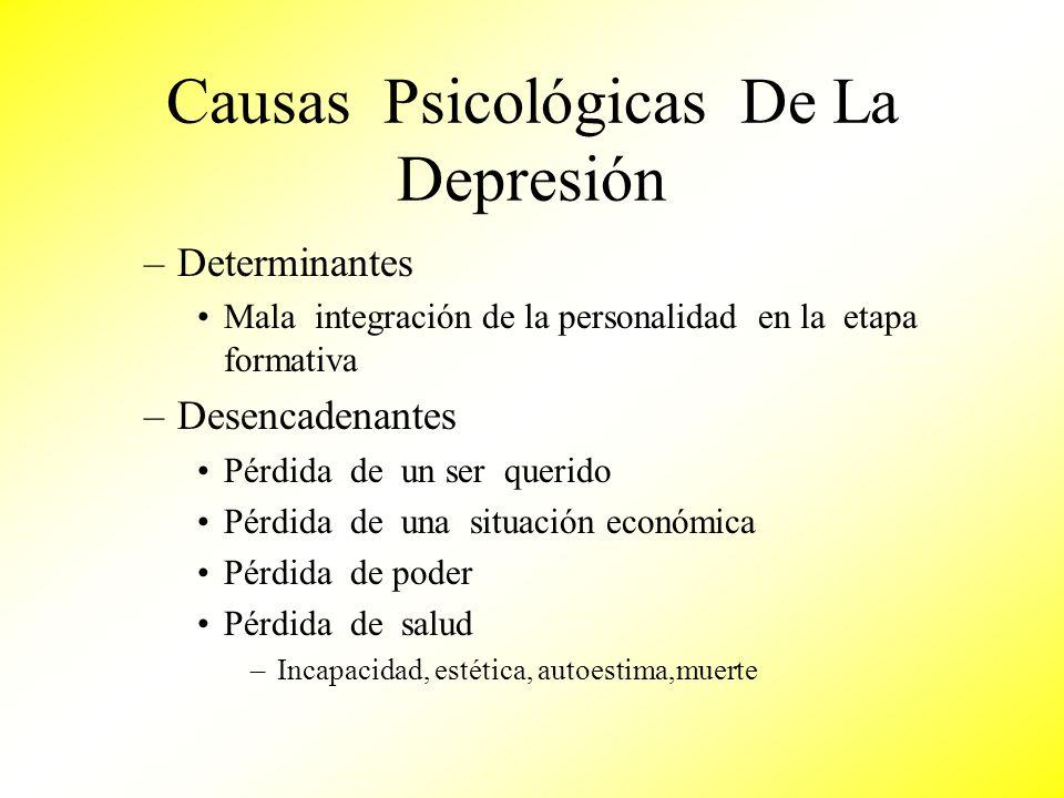 Causas Psicológicas De La Depresión