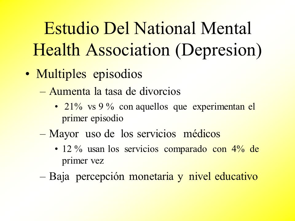 Estudio Del National Mental Health Association (Depresion)