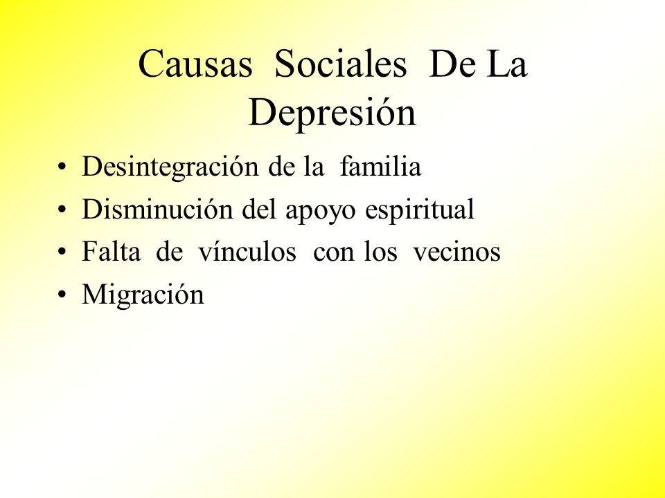Causas Sociales De La Depresión