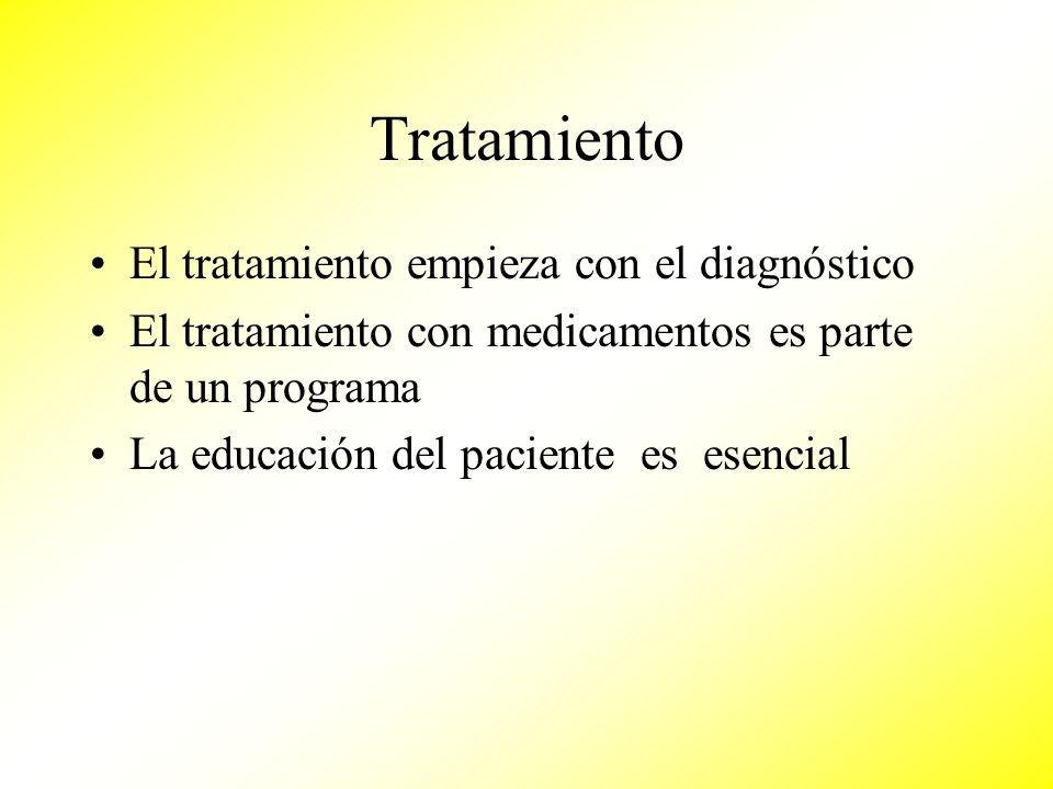 Tratamiento El tratamiento empieza con el diagnóstico