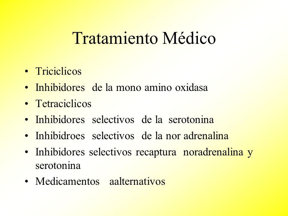 Tratamiento Médico Triciclicos Inhibidores de la mono amino oxidasa