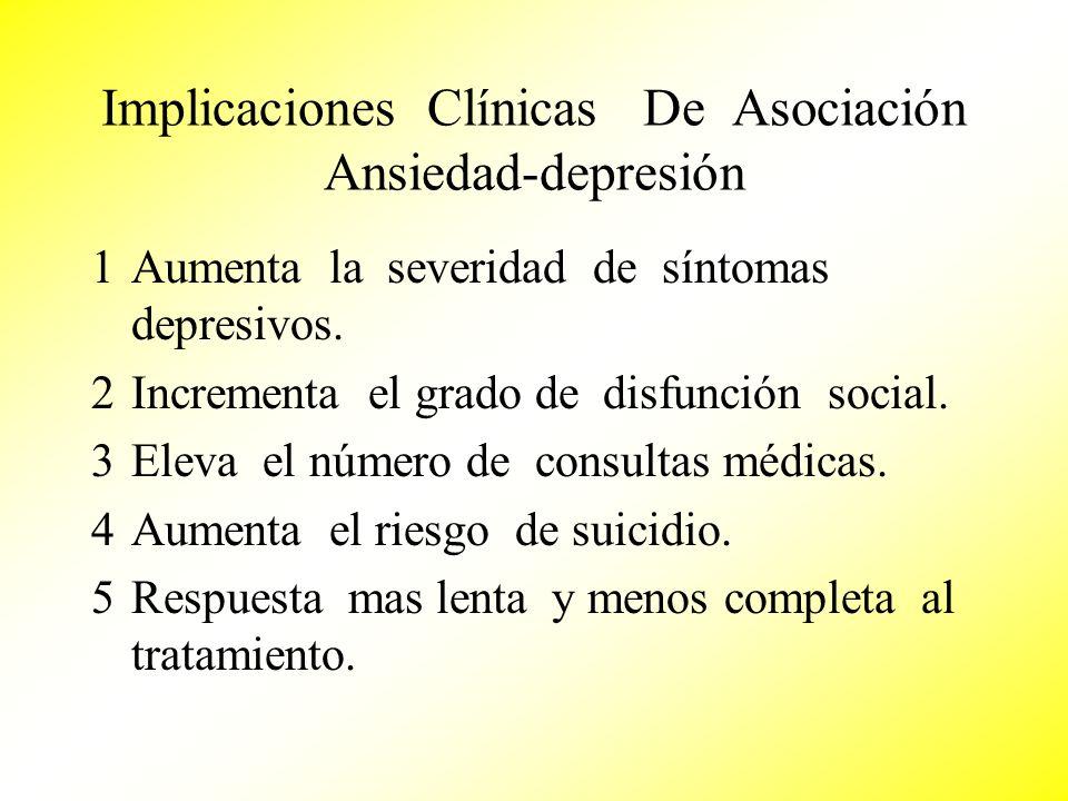 Implicaciones Clínicas De Asociación Ansiedad-depresión
