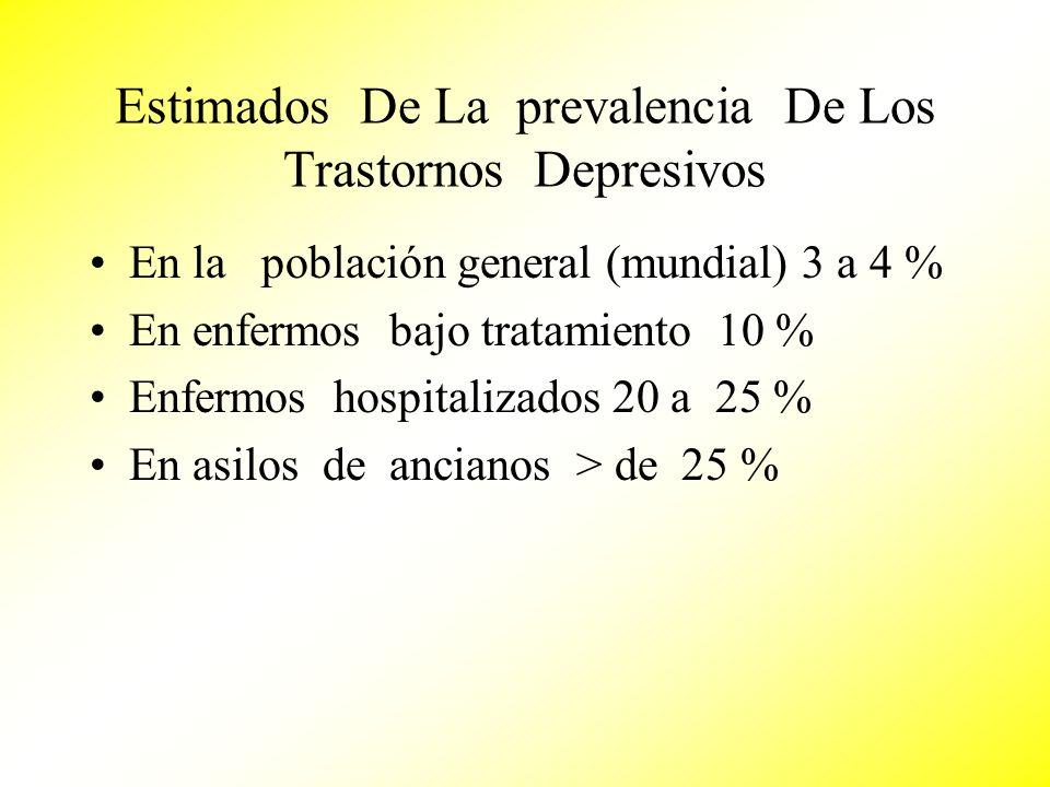 Estimados De La prevalencia De Los Trastornos Depresivos