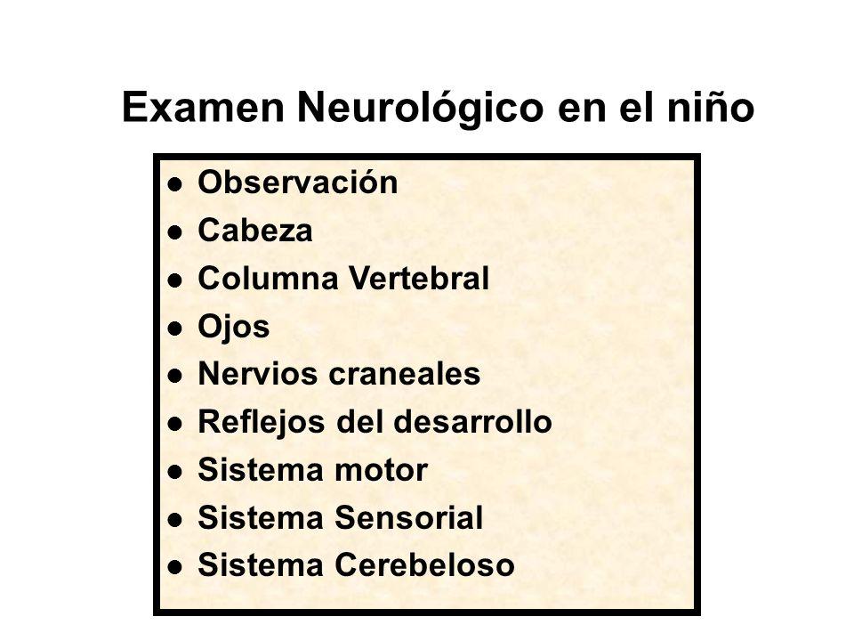 Examen Neurológico en el niño
