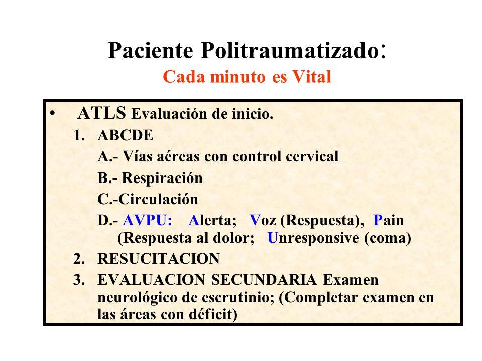 Paciente Politraumatizado: Cada minuto es Vital