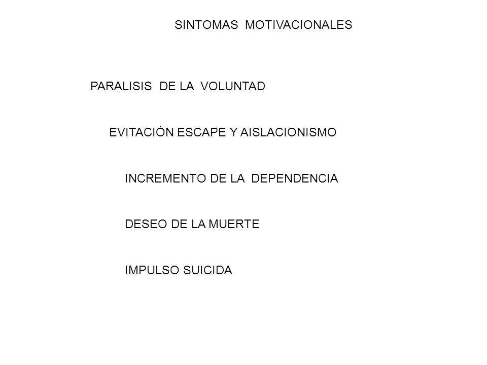 SINTOMAS MOTIVACIONALES