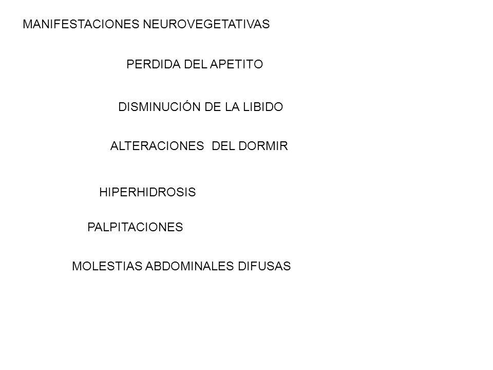 MANIFESTACIONES NEUROVEGETATIVAS