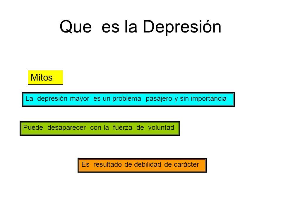 Que es la Depresión Mitos