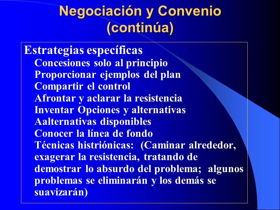 Negociación y Convenio (continúa)