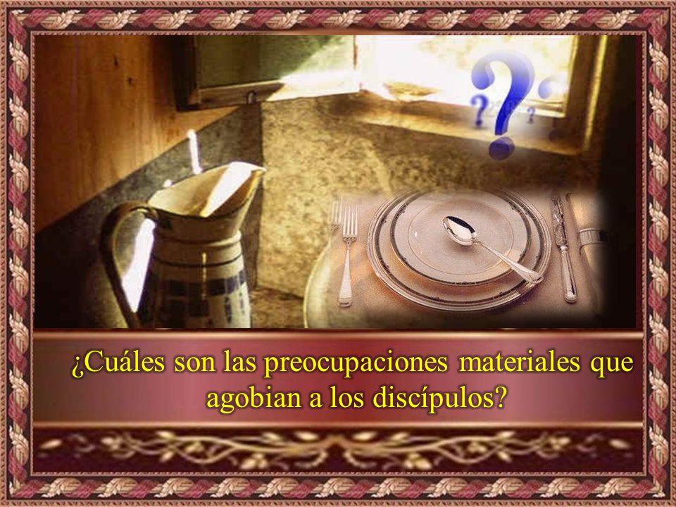 ¿Cuáles son las preocupaciones materiales que agobian a los discípulos