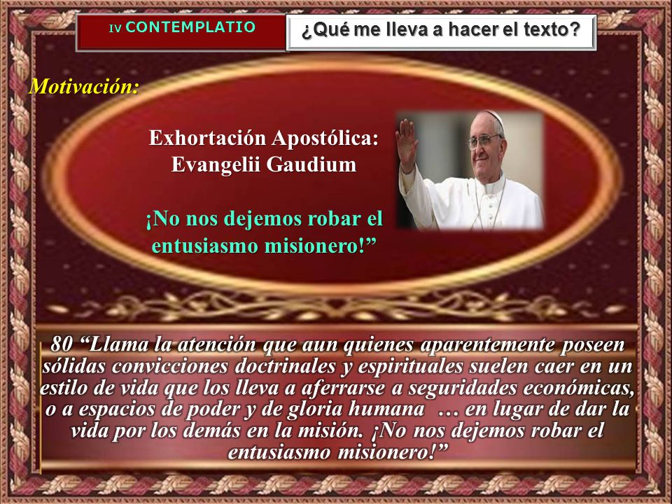 Exhortación Apostólica: Evangelii Gaudium