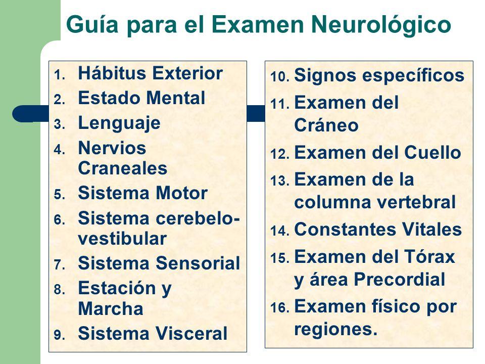 Guía para el Examen Neurológico