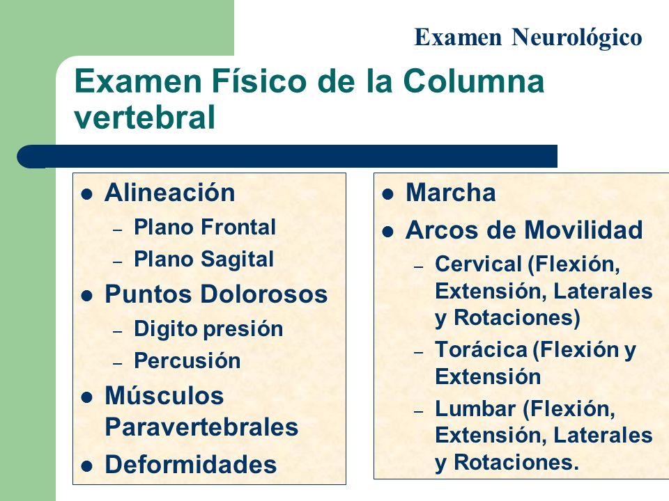 Examen Físico de la Columna vertebral