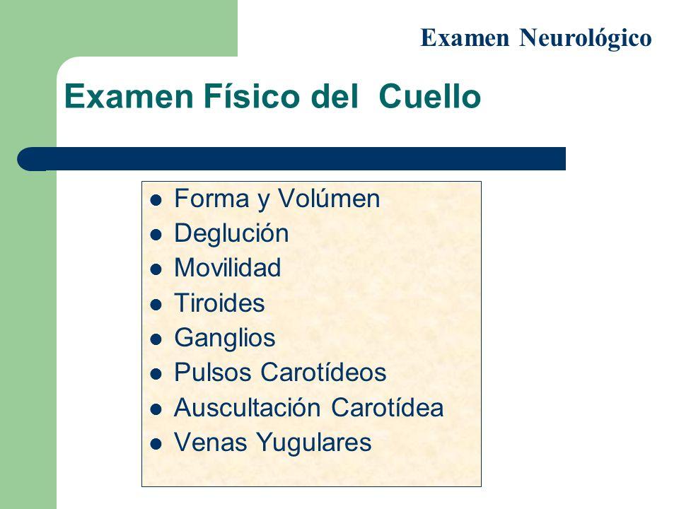 Examen Físico del Cuello