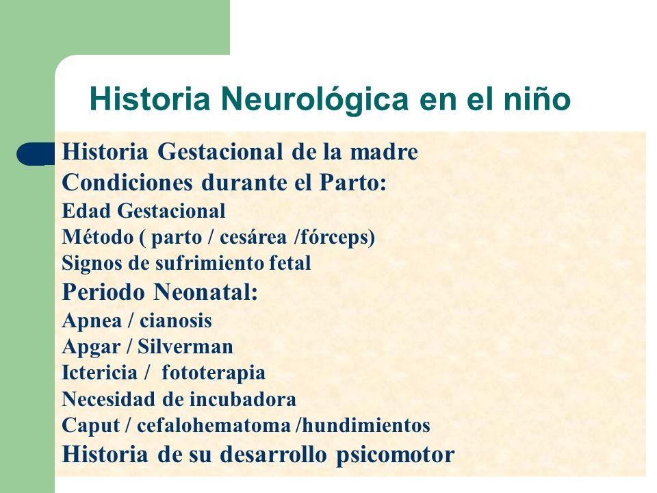 Historia Neurológica en el niño