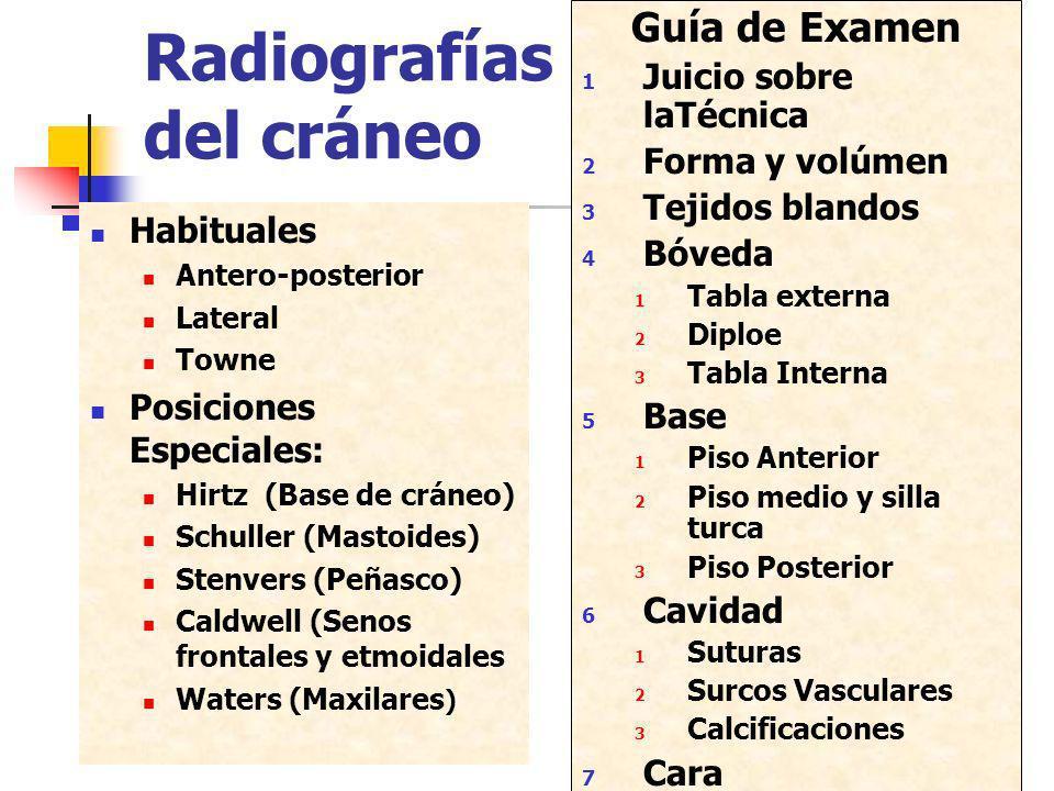 Radiografías del cráneo