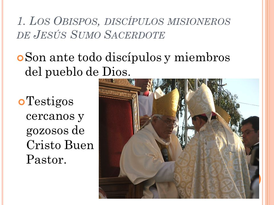 1. Los Obispos, discípulos misioneros de Jesús Sumo Sacerdote