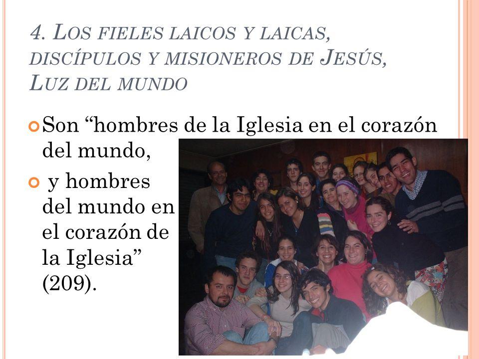 4. Los fieles laicos y laicas, discípulos y misioneros de Jesús, Luz del mundo