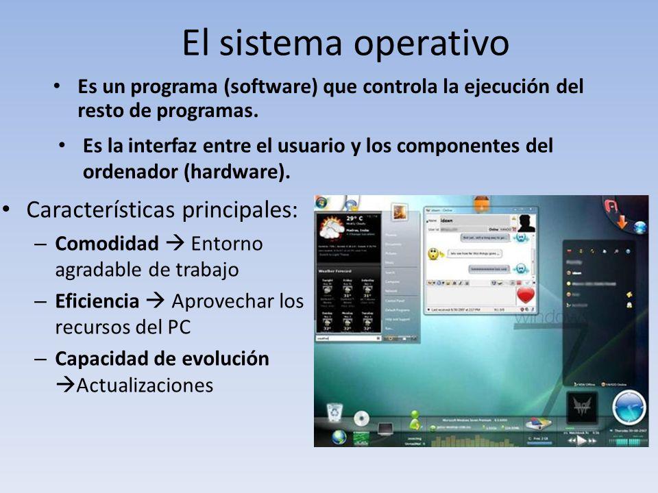 El sistema operativo Características principales: