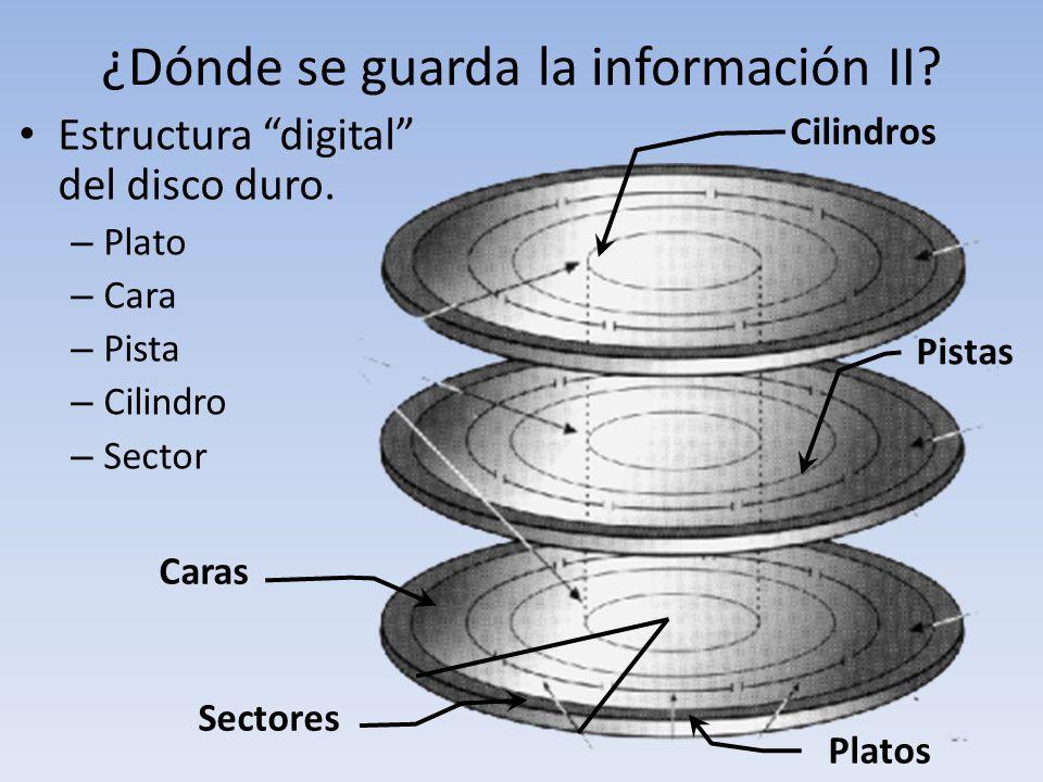 ¿Dónde se guarda la información II